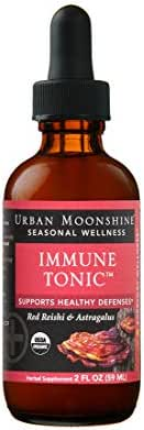 Urban Moonshine Immune Tonic | Organic Herbal Supplement with Red Reishi & Astragalus | Supports Healthy Defenses | 2 FL OZ (Pack of 2)