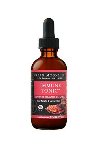 Urban Moonshine Immune Tonic | Organic Herbal Supplement with Red Reishi & Astragalus | Supports Healthy Defenses | 2 FL OZ (Pack of 1)