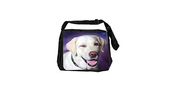 Dog Retriever Watercolor Cross Body Shoulder Messenger Laptop Bag