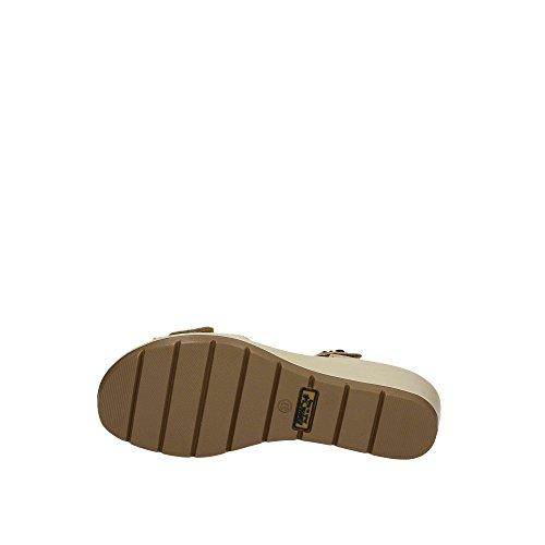 Minkki Beige Naisten Sandaali Kiila Kaksinkertainen Velcro Pehmeä Nahan Italia 1281644 Enval f0wPqgBS