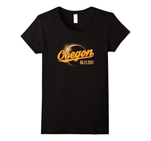 Womens Oregon Total Solar Eclipse T Shirt 2017 Large Black