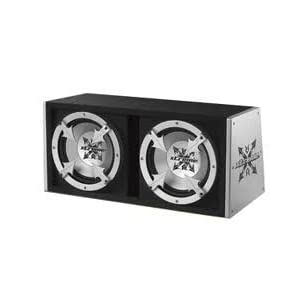 "Xtreme Dual 10"" Slot Ported 500w Sub Box with Amplifier"