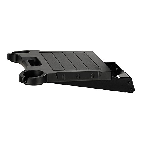 Gas Grill Additional Side Shelf (Broilmaster Single Fold Down Black Side Shelf With Stainless Steel Brackets)