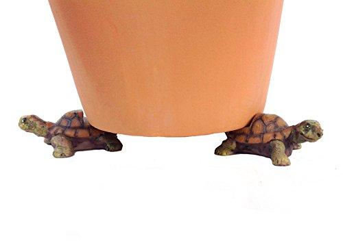 Set of 3 Poly Resin Turtle Shaped Pot Feet or Planter Risers (Small Size Turtle Shape Each Measures 2.25 inches Long 1.25 inches Tall)