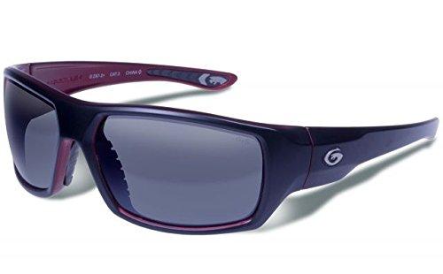 Gargoyles Performance Eyewear Wrath Polarized Safety Glasses, Matte Black Frame/Smoke with Silver Mirror Lenses