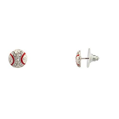 [Lux Accessories Kids Girls Baseball Sport Ball Stud Earrings.] (Baseball Girl Costume)