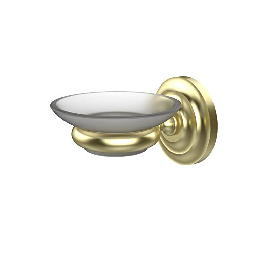 (Allied Brass PQN-62-SBR Prestige Que New Collection Wall Mounted Soap Dish Satin Brass)