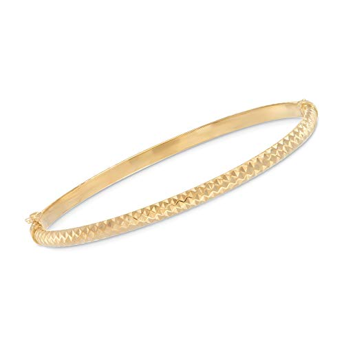 Ross-Simons Certified Italian 14kt Yellow Gold Diamond-Cut Bangle Bracelet