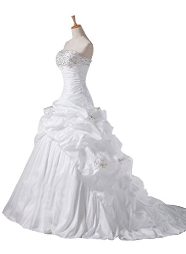 Wedding Train Bridal Dress White Silvery Bead Gowns Women Long Chupeng s w18COSnq