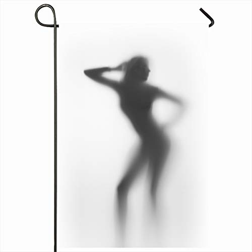 (Ahawoso Seasonal Garden Flag 12x18 Inches Movement Action Dancer Behind Glass Diffuse Arm Body Bop Dance Design Shape Home Decorative Outdoor Double Sided House Yard Sign)