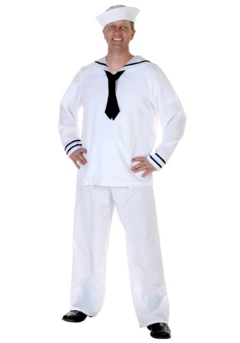 Plus Size Men's Sailor Costume 2X