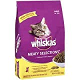 Whiskas Meaty Selections Dry Cat Food - 3 lb bag