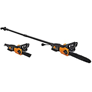 """10"""" 8 Amp Electric Chainsaw with Extension Pole Adjustable LED Electric Chainsaw including Extension Pole Home & Garden Powerful 8 Amp motor offers consistent performance and durability"""