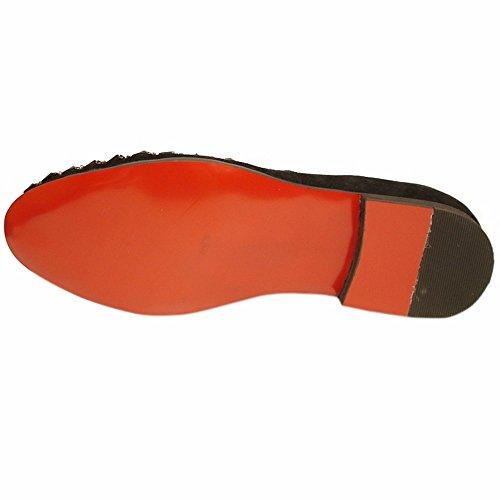 Fiesso Lederen Slip-overs Voor Heren - Loafers Met Leren Bovenkant, Zachte Leren Voering En Zachte Binnenzool Mode Schoen Zwart
