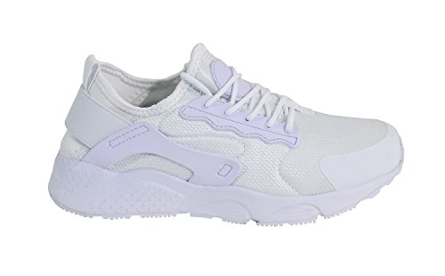 Femme By Shoes Blanc Plate Running Style Basket T0AXcf7rA