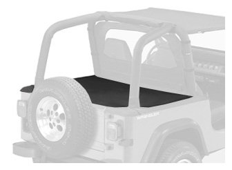 Bestop 90018-15 Duster Black Diamond Deck Cover for 1992-1995 Wrangler with Factory Soft Top bows folded (Diamond Duster)