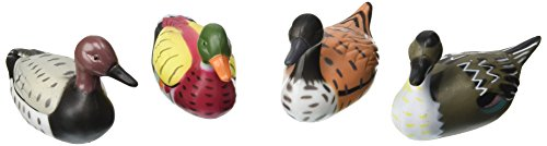 Oasis Supply Assorted Colors Cupcake/Cake Decorating Toppers, 3-Inch, Mallard Duck, Set of 4 (Duck Plastic)