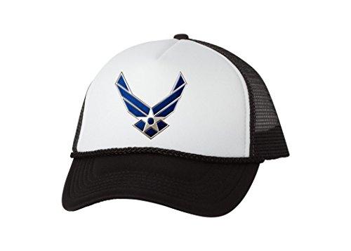 USAF US Air Force Logo Trucker Hat United States Baseball Cap Retro Vintage Military Cover (Black)
