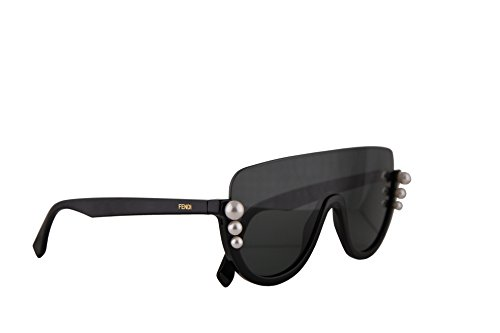 (Fendi FF0296/S Sunglasses Black w/Grey Blue Lens 99mm 807IR FF0296S FF 0296S FF)