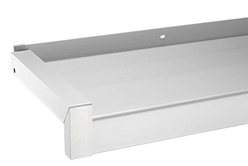 Fensterbank Gleitabschluss Design Ausladung 50 - 400 mm WEISS ANTHRAZIT SILBER