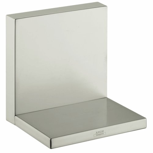 - Hansgrohe 40872820 Axor Starck Shelf, Brushed Nickel