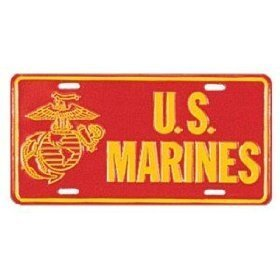 Rothco US Marines License Plate - Marines License Plate