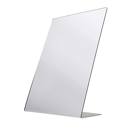 Marketing Holders Free Standing Mirror Slant Back Counter Single-Sided Self-Portrait Mirror 12 x 18 Inches Lot of 10 by Sax