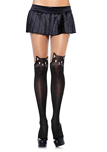 Adult Kitty Costume (Leg Avenue Women's Kitty Kat, Black/Nude, One)