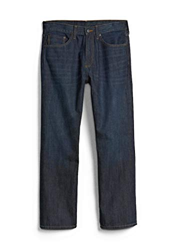 GAP Men's Jeans in Relaxed Fit, Dark Resin Wash, Non-Stretch Cotton (32x30)