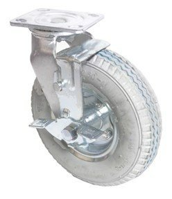 8'' Pneumatic Swivel Caster with Gray Tire, heavy duty rigid
