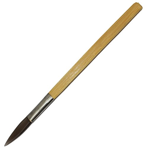 DIKO Agate Burnisher Wit Bamboo Handle Sword Shape