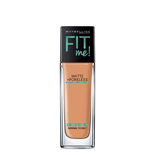 Maybelline New York Fit Me Matte + Poreless Liquid Foundation Makeup, Classic Tan, 1 fl. oz. Oil-Free Foundation