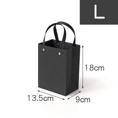 Xiaogongju 1Pc Christmas Black Sweet GIF Box Beloved Valentine's Day Paper Gift Bag Creative Wedding Jewelry Box Packing -