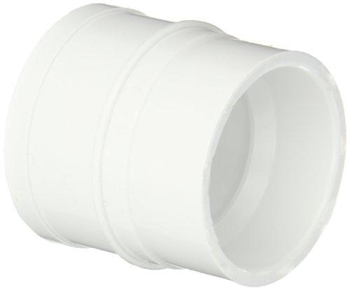 "Spears P119 Series PVC DWV Pipe Fitting, No-Hub Adapter, 2"" Spigot x 1-1/2"" Hub"