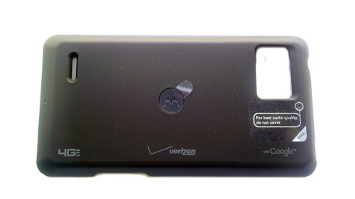 Motorola OEM Droid Bionic Wireless Charging Inductive Battery Door Cover - Black (Droid Bionic Battery Cover)