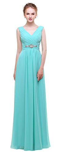Chiffon Empire Waist Evening Gown - 6