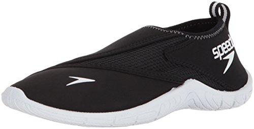Speedo Women's Surfwalker Pro 3.0 Water Shoe, Black/White, 5