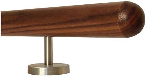 Eiche Handlauf mit Radius u 260cm 4 Edelstahl-Halter Halter /Ø42mm in verschiedenen L/ängen