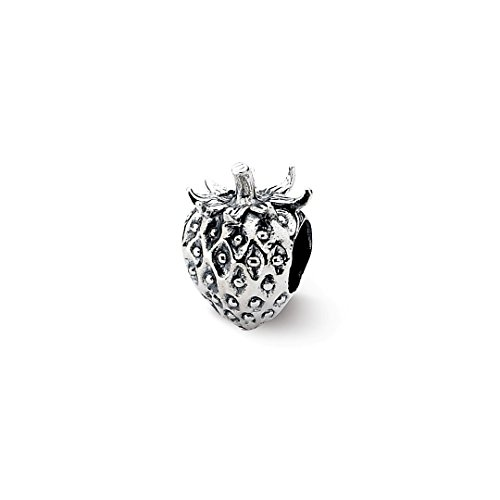 ICE CARATS 925 Sterling Silver Charm For Bracelet Strawberry Bead Food Drink Fine Jewelry Ideal Mothers Day Gifts For Mom Women Gift Set From Heart