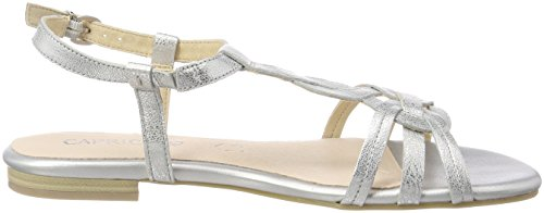 Caprice Women's 28101 Sling Back Sandals, Silver Silver (Silver Metal 920)
