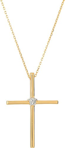 Versace Unisex Cross Pendant Necklace Silver/Gold One - Jewelry Fashion Versace