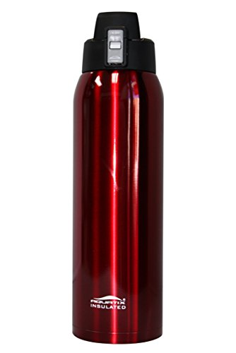 aquatix-crimson-red-insulated-fliptop-ultimate-sport-bottle-21-ounce-pure-stainless-steel
