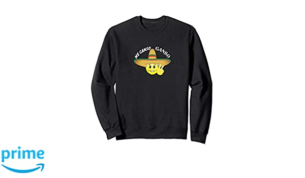 Amazon.com: Me canso ganso frases AMLO peje emoji viva mexico sudadera: Clothing