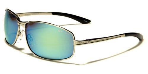 Oxigen Men's New 2014 Stylish Metal Sports Reflective Lens Sunglasses-OX24720RV (Silver Black Blue - Stylish Sunglasses 2014