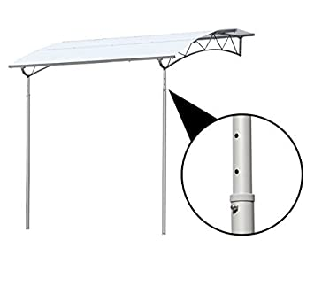 Amazon.de: Outsunny 2.1 M x 2, 65 m Deluxe Himmel Metall ...
