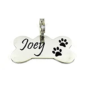 Streetsoul Silver Stainless Steel Personalized Metal Tag for Pet Dog and Cat