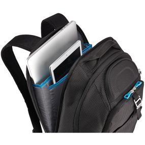 The laptop and tablets pockets of the Thule Crossover TCBP-417 32L 17 Inch MacBook + iPad Backpack