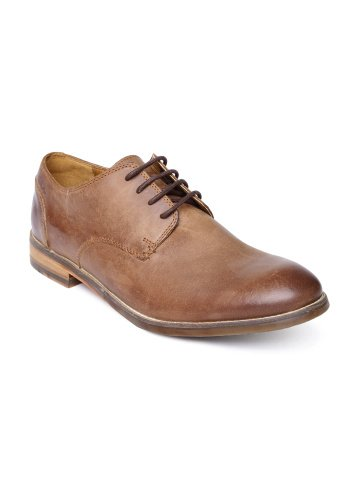 Clarks Men Brown Exton Walk Leather Derby Formal Shoes (10.5)