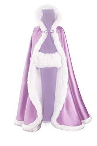 Mano Altri Muffa Mantello Mantellina A Di Gratutio Colori Pelliccia BEAUTELICATE Lilac Nozze Donna zqBFfF