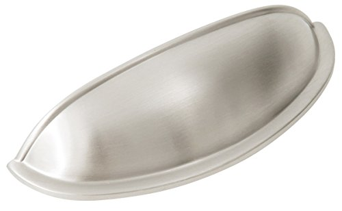 Design House 203893 West Side Cabinet and Drawer Pull Cup Handle, Satin Nickel Finish